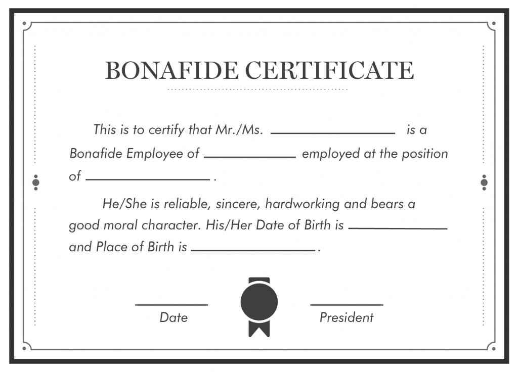 Bonafide certificate KYA HOTA HAI